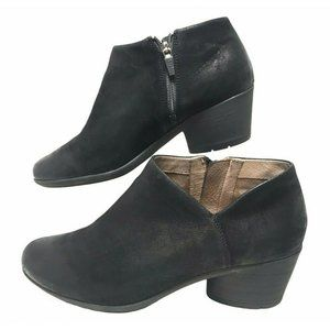 Dansko Raina Black Burnished Nubuck Ankle Boots